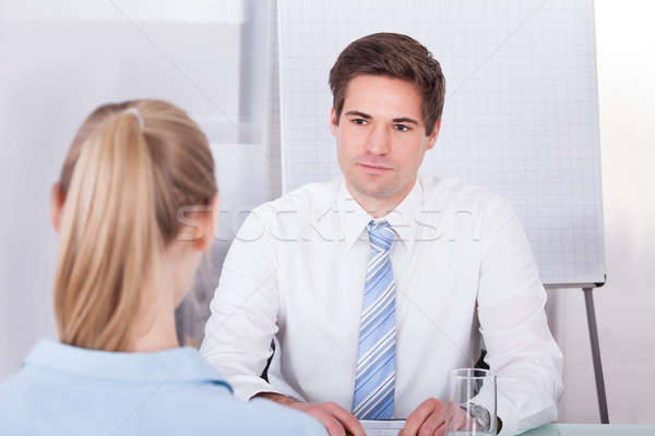 Businessman Conducting Interview Stock photo © AndreyPopov