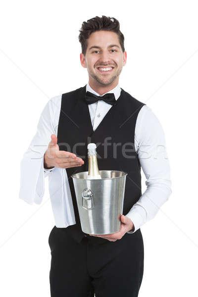 официант льда ковша шампанского бутылку Сток-фото © AndreyPopov