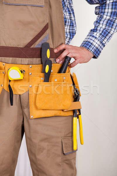 Tool gordel jonge mannelijke Stockfoto © AndreyPopov