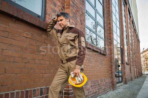 Portrait Of Contemplating Builder Stock photo © AndreyPopov