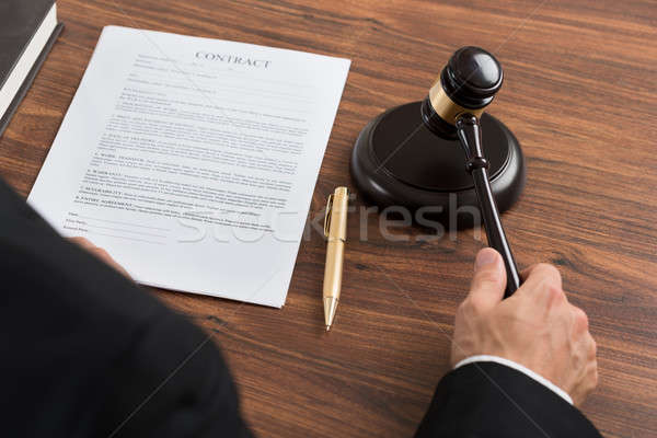 Judge Hitting The Gavel At Desk Stock photo © AndreyPopov