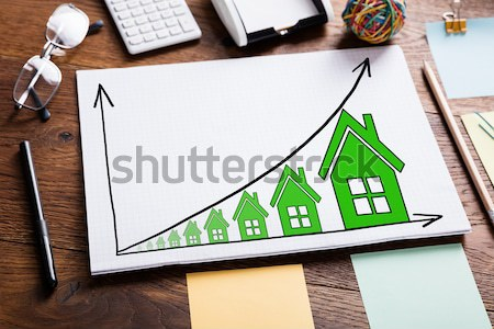 House Model And Contract Paper Stock photo © AndreyPopov