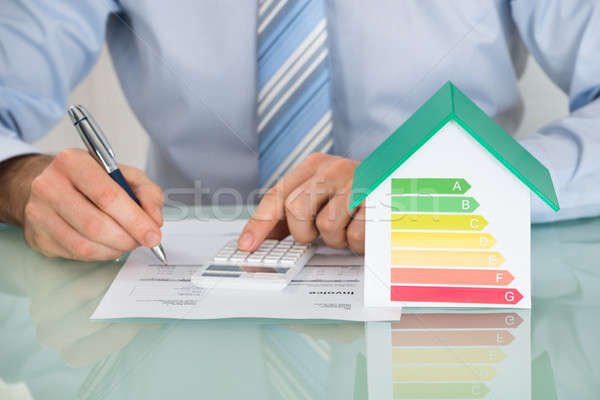 Businessman Calculating Energy Efficiency Rate Stock photo © AndreyPopov
