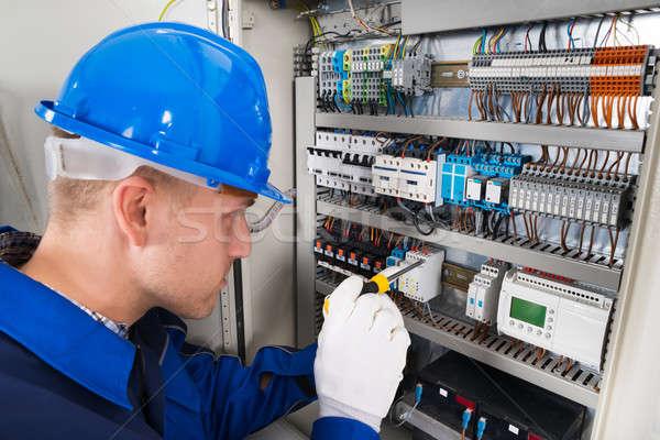 Сток-фото: мужчины · электрик · рабочих · технологий · работник