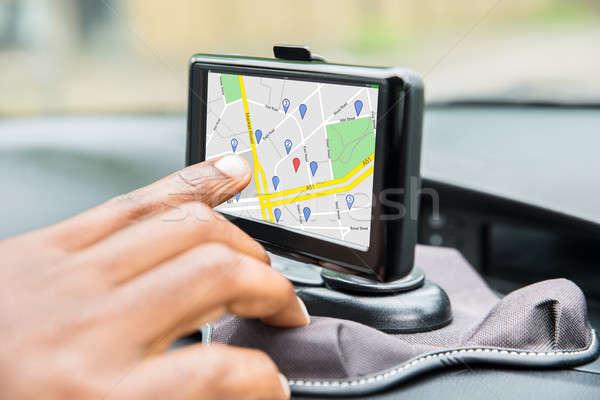 Personnes main GPS Ouvrir la conduite Photo stock © AndreyPopov