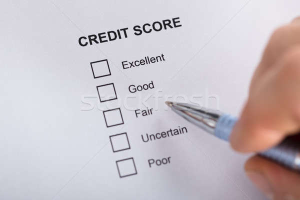 Person Filling Credit Score Form Stock photo © AndreyPopov