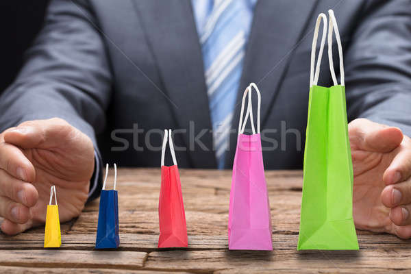 Covering Various Shopping Bags Arranged In Increasing Order Stock photo © AndreyPopov