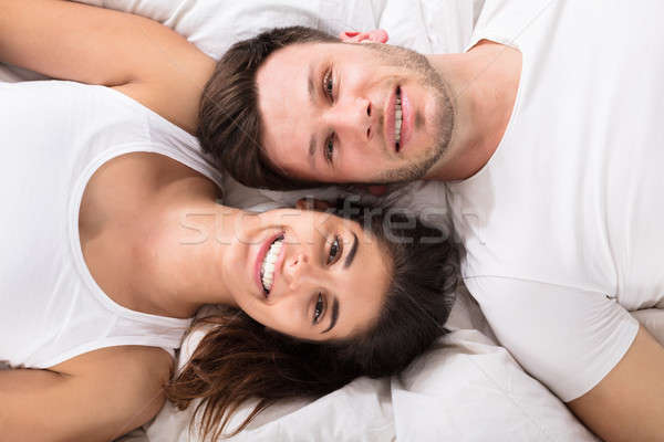 Elevated View Of Happy Couple Stock photo © AndreyPopov