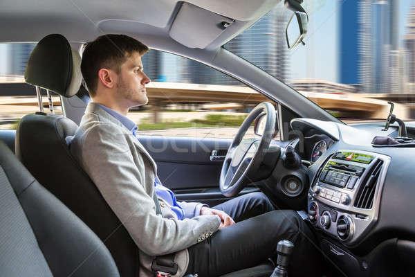 Man Sitting Autonomous Car Stock photo © AndreyPopov