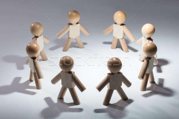 Humanos pie blanco círculo negocios Foto stock © AndreyPopov