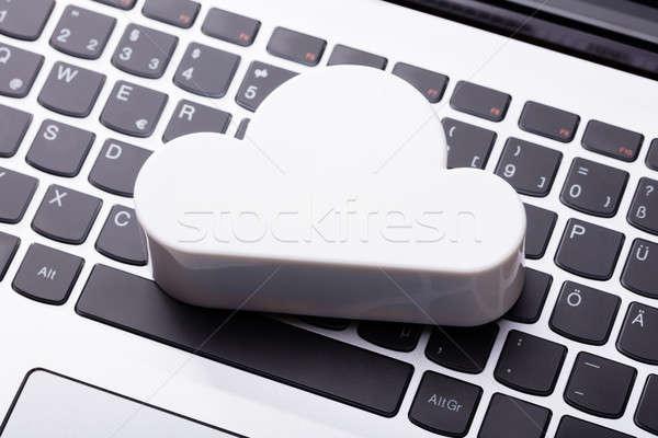 雲 ノートパソコン キーパッド 表示 白 コンピュータ ストックフォト © AndreyPopov