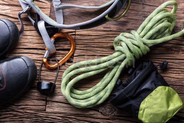 Elevated View Of Hiking Equipment Stock photo © AndreyPopov