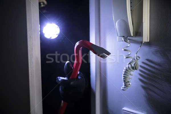 Thief Entering Into House Stock photo © AndreyPopov