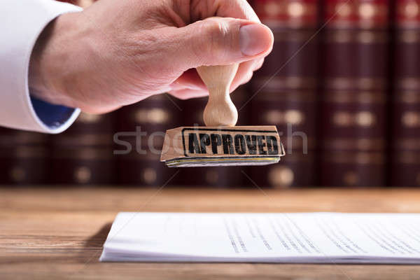Judge Approving Contract Form Stock photo © AndreyPopov