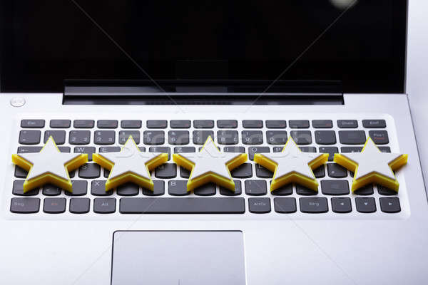 Close-up Of Five Star Rating Icon Stock photo © AndreyPopov