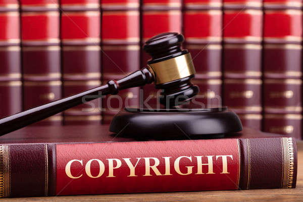 Brown Wooden Gavel On Law Book Stock photo © AndreyPopov