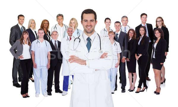 Profesyonel hastane personel her ikisi de tıbbi meslek Stok fotoğraf © AndreyPopov