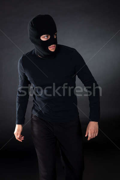 Ladrón movimiento oscuridad hombre seguridad Foto stock © AndreyPopov
