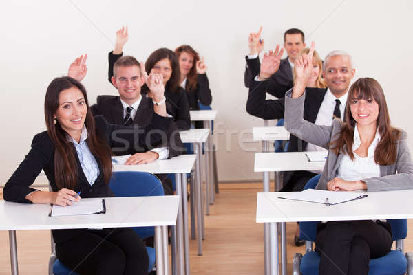 Businesspeople Raising Their Hands Stock photo © AndreyPopov