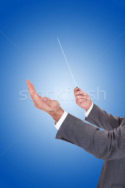 Person Directing With A Conductor's Baton Stock photo © AndreyPopov