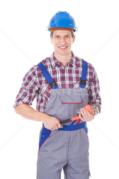 Worker Holding Toolkit And Wrench Stock photo © AndreyPopov