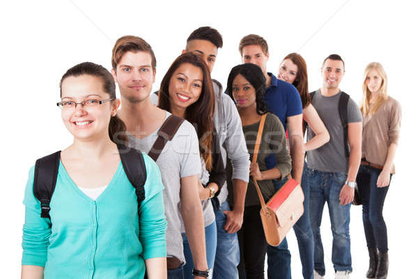 Multiethnic University Students Standing In A Row Stock photo © AndreyPopov