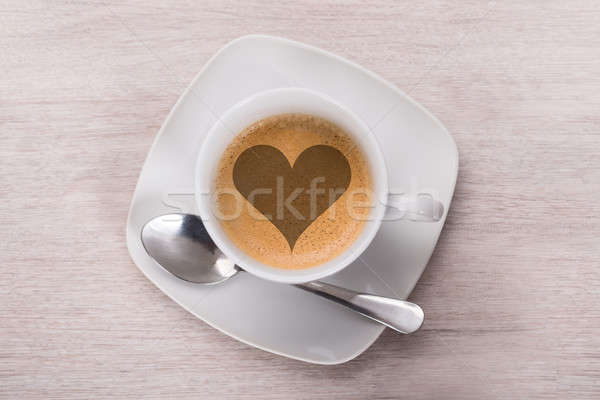 Coffee With Heart Shape Stock photo © AndreyPopov