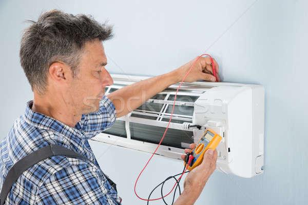 技術者 テスト 空調装置 肖像 男性 デジタル ストックフォト © AndreyPopov