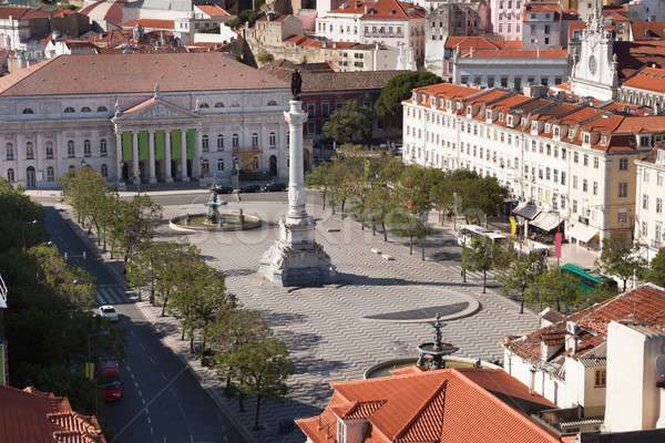 Rossio Square In Lisbon Stock photo © AndreyPopov