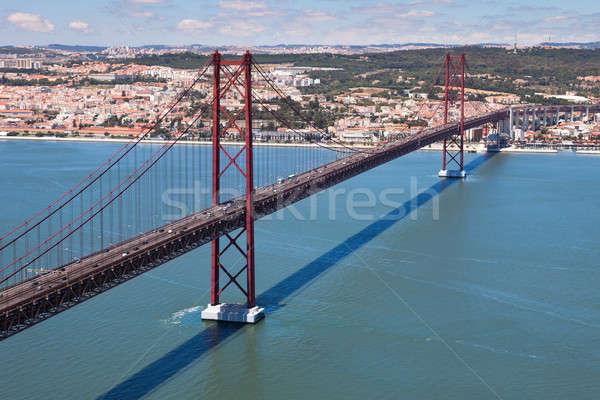 Stock fotó: 25 · híd · folyó · kilátás · Lisszabon · Portugália