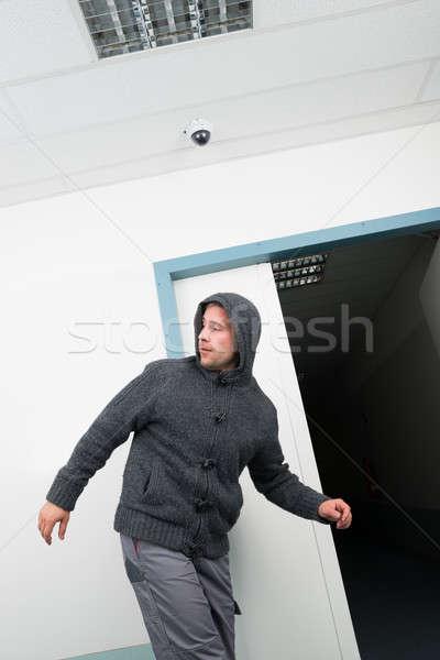 человека ходьбе кабельное телевидение наблюдение Сток-фото © AndreyPopov