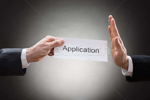 Businessman Avoiding Application Form Stock photo © AndreyPopov