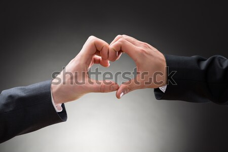 Close-up Of Gay Men Hand's Making Heartshape Stock photo © AndreyPopov