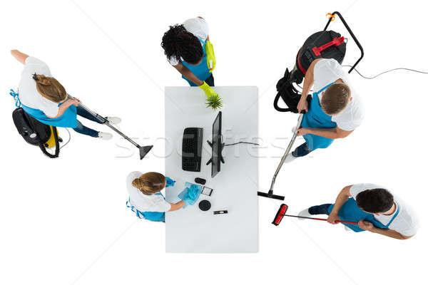 Grupy czyszczenia biuro widoku biały Zdjęcia stock © AndreyPopov