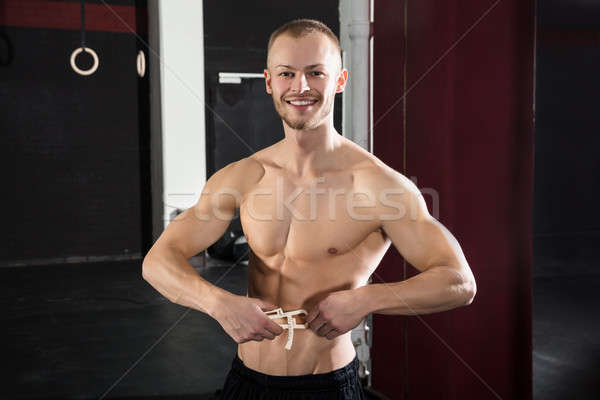 Atleta hombre cuerpo grasa retrato Foto stock © AndreyPopov