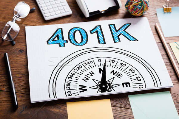 401k Pension Plan In Notebook Stock photo © AndreyPopov
