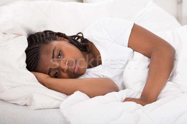 Girl Having Sleeplessness Night Stock photo © AndreyPopov