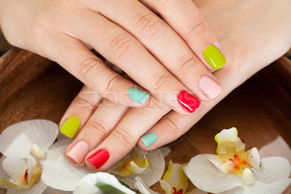 Female Nail With Petal Stock photo © AndreyPopov