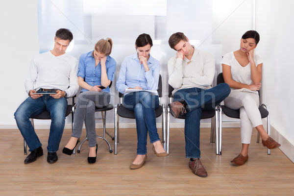 Group Of People Sleeping On Chair Stock photo © AndreyPopov