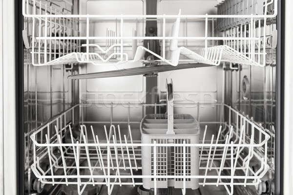Boş bulaşık makinesi fotoğraf Metal Stok fotoğraf © AndreyPopov
