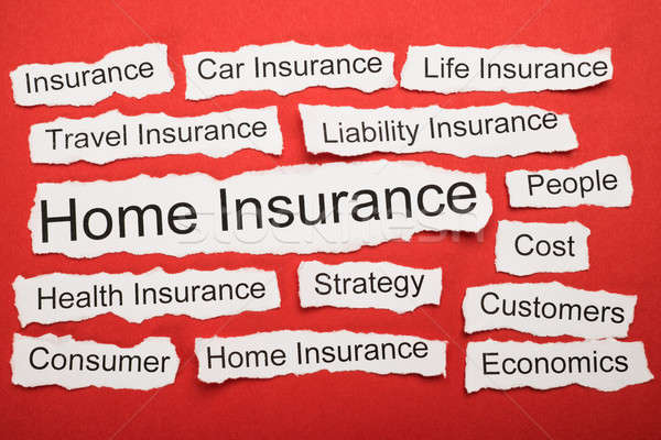 Home Insurance Text On Piece Of Torn Paper Stock photo © AndreyPopov