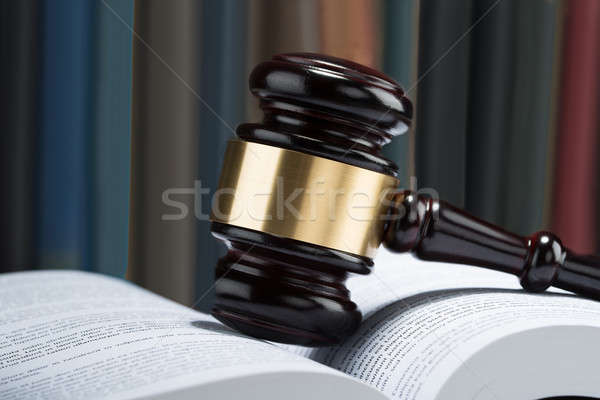 Gavel With Stack Of Book Stock photo © AndreyPopov