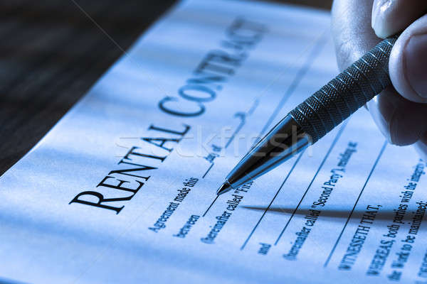 Filling Rental Agreement Form Stock photo © AndreyPopov
