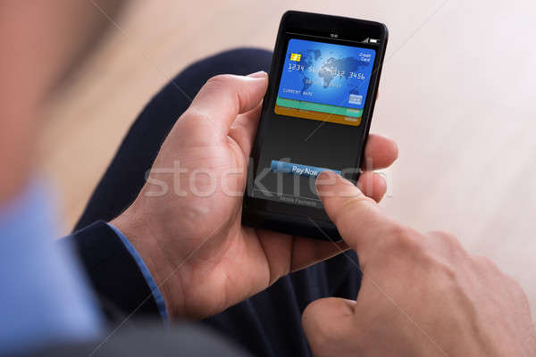 Businessman Making Payment Online Stock photo © AndreyPopov