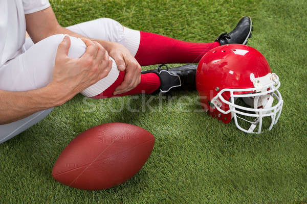 Stock photo: Injured American Football Player