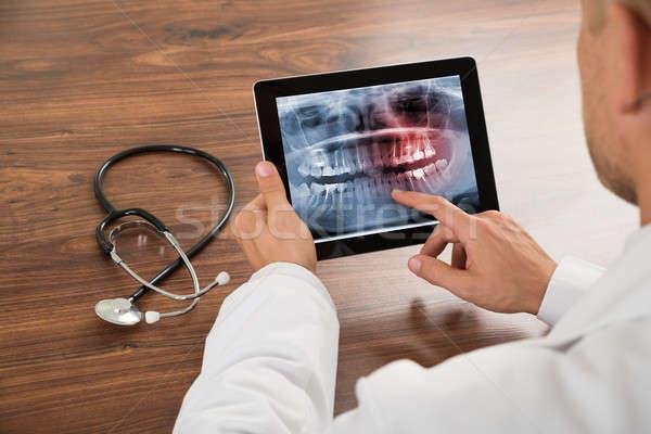 врач глядя человека зубов Xray Сток-фото © AndreyPopov