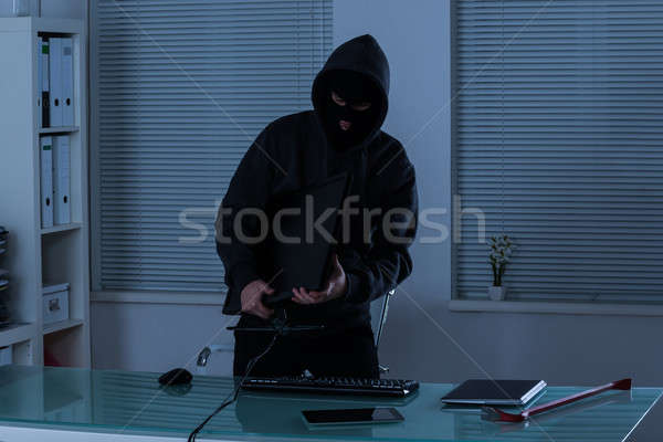 Thief Stealing Computer Stock photo © AndreyPopov
