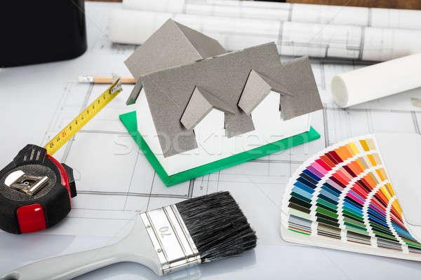 Сток-фото: архитектурный · оборудование · столе · мнение · дома