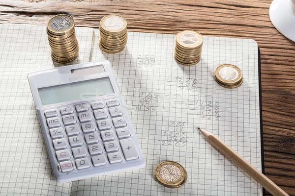 Cálculo beneficio pérdida cuaderno negocios financiar Foto stock © AndreyPopov