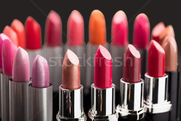 Colorful Lipstick In A Circle Stock photo © AndreyPopov